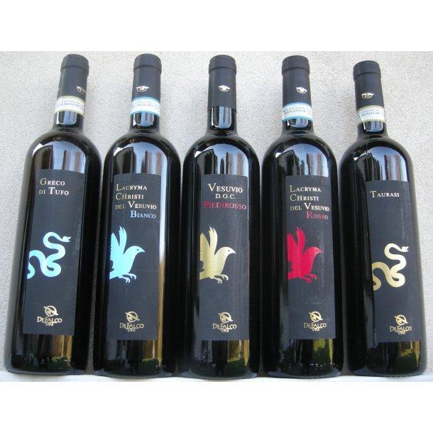 Vulkanen Vesuv:  TESTKASSE: af vine fra De Falco